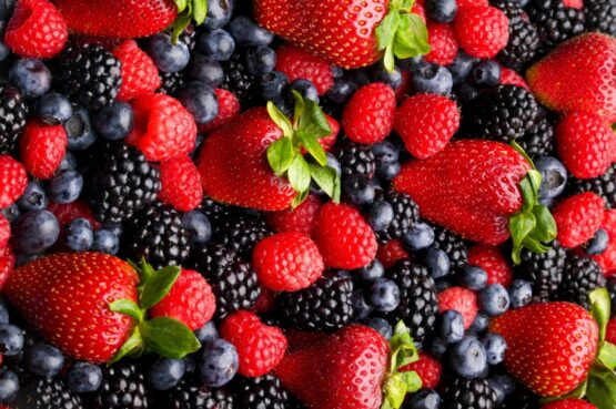 Sour Blackberries & Strawberries